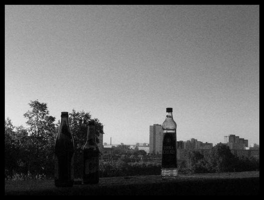 Die drei Flaschen aus Marzahn...