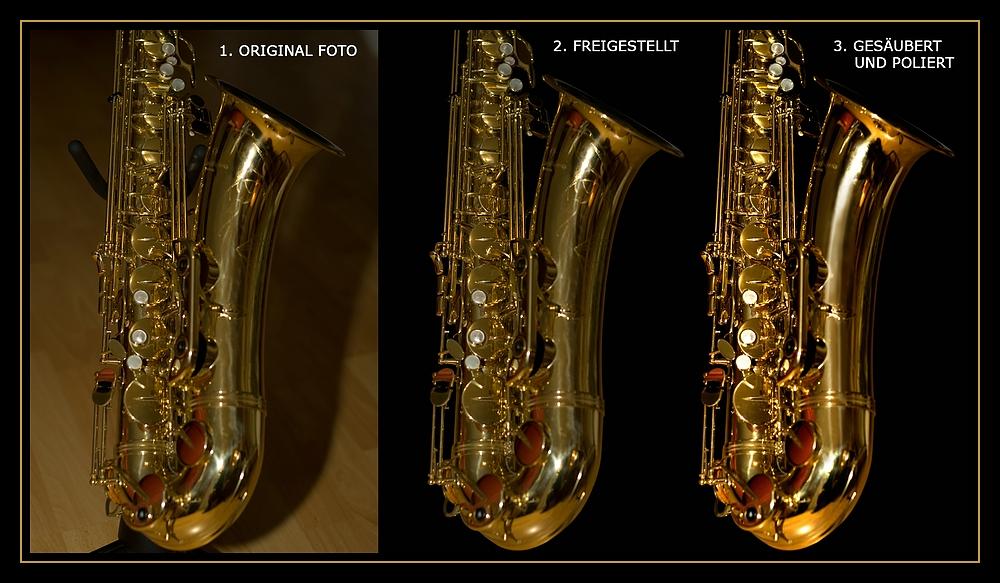 Die drei Schritte bei der Bea. vom Saxophon