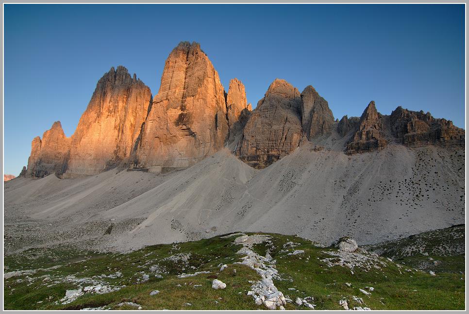 Die drei Zinnen, Sextener Dolomiten, Italien