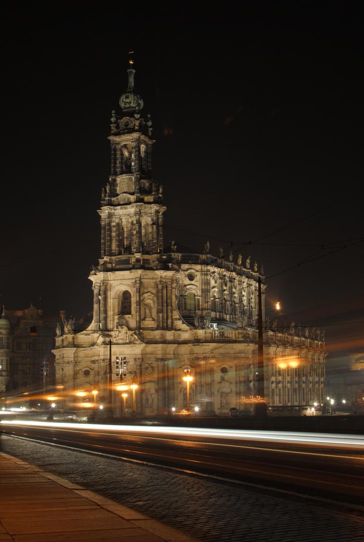 Die Dresdner Altstadt bei Nacht III