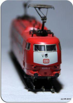 Die E 103 der DB als Modell