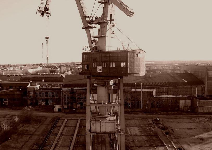 Die ehemalige Neptun- Werft