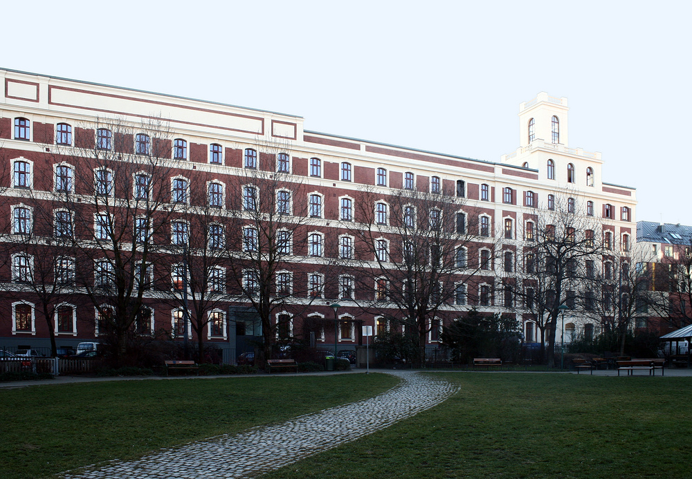 Die ehemalige Schokoladefabrik Heller am Belgradplatz in Favoriten