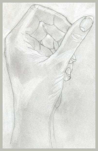 Die eigene Hand.....