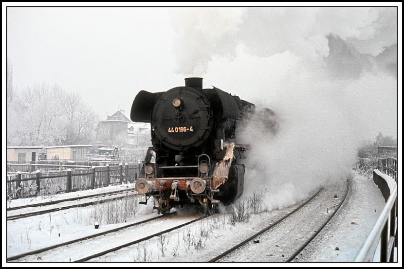 Die Eisenbahn und der Winter bei der DR