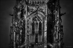 Die eisernen Käfige der Lambertikirche