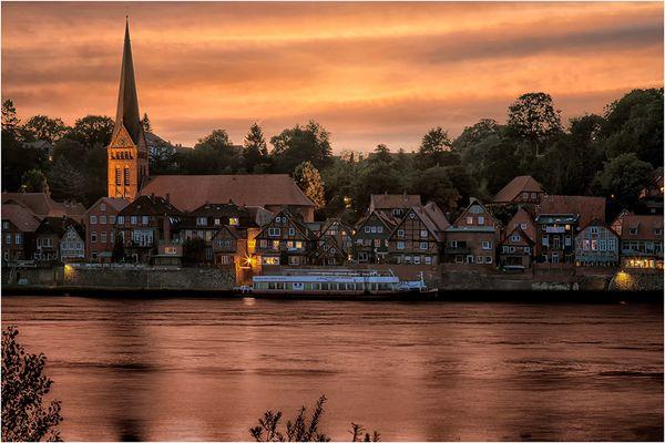 die Elbe bei Lauenburg