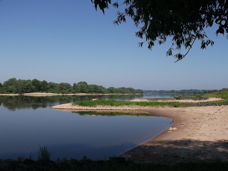 Die Elbe bei Sonnenschein und ohne Hochwasser