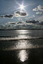 Die Elbe höhe Wedel