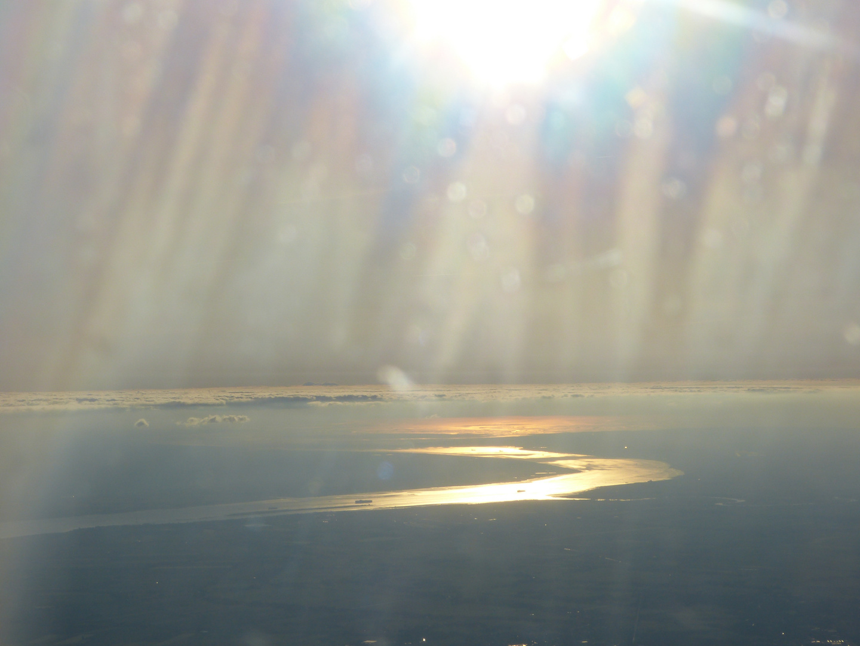 Die Elbe von oben....