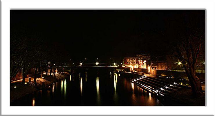 Die Emsbrücke in Rheine...