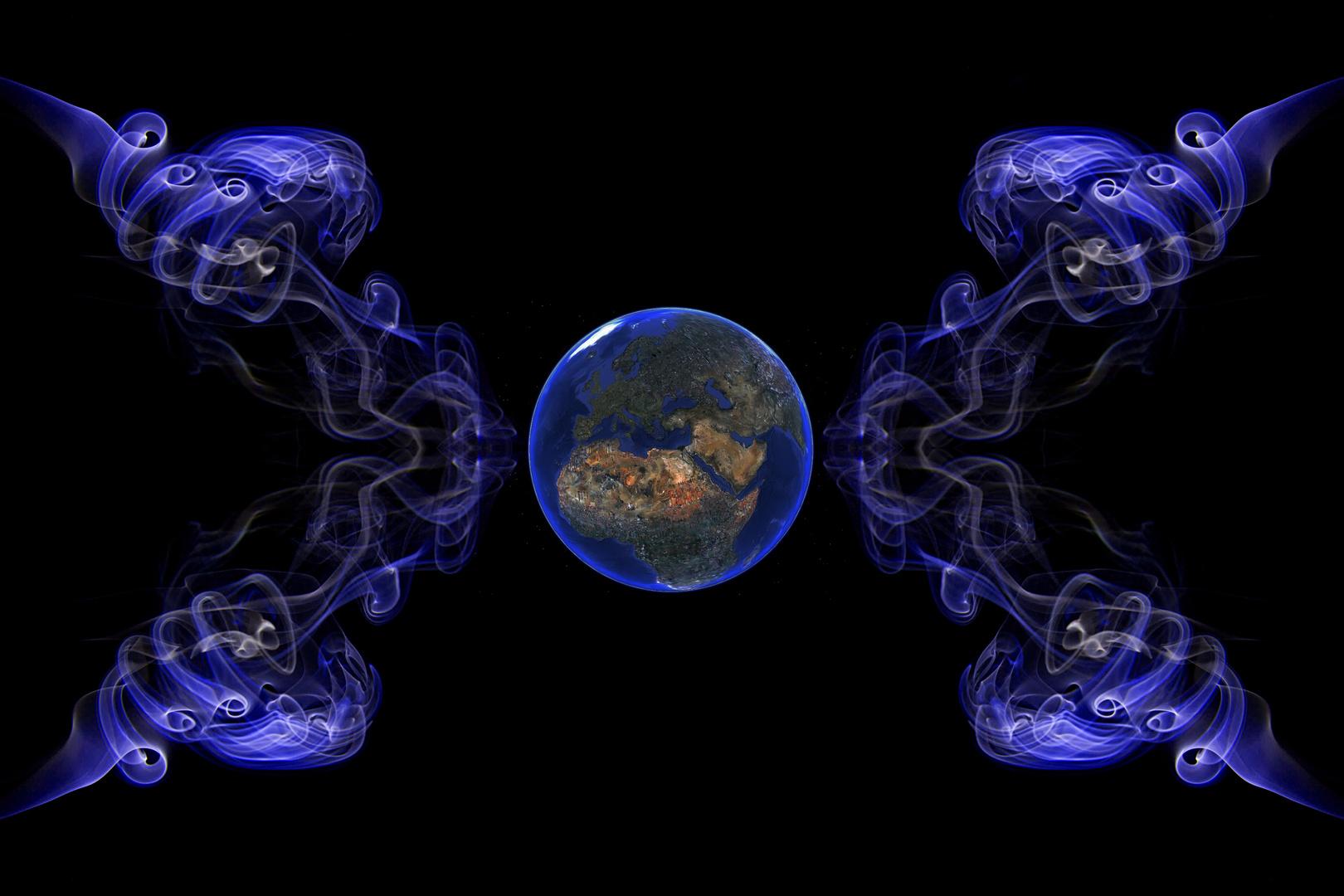 Die Erde im zwang