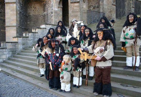 Die Erfurter Waldgeister beim Erfurter Karnevalsumzug 2005