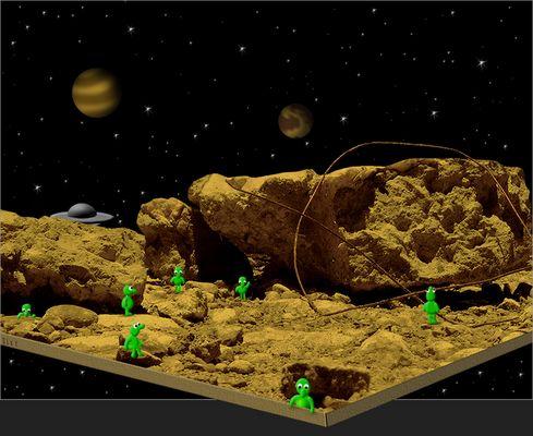 die Erkundung des Flachplaneten