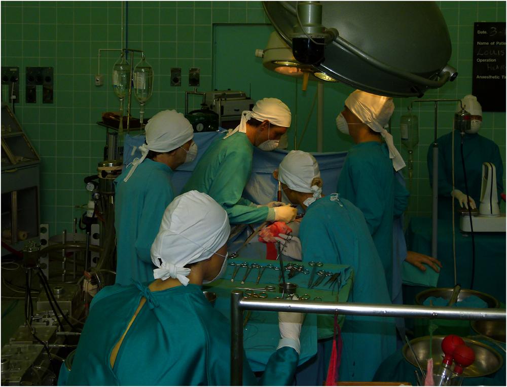 Die erste Herztransplantation...