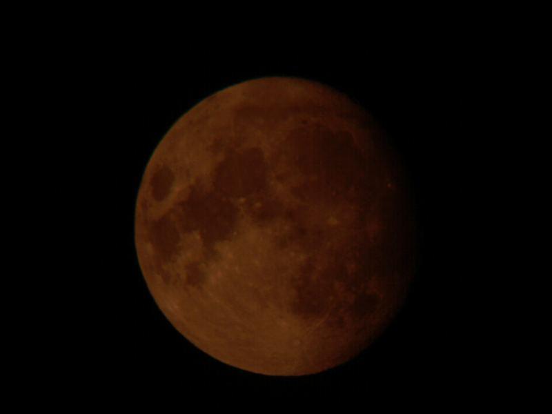 Die erste Mondfinsternis