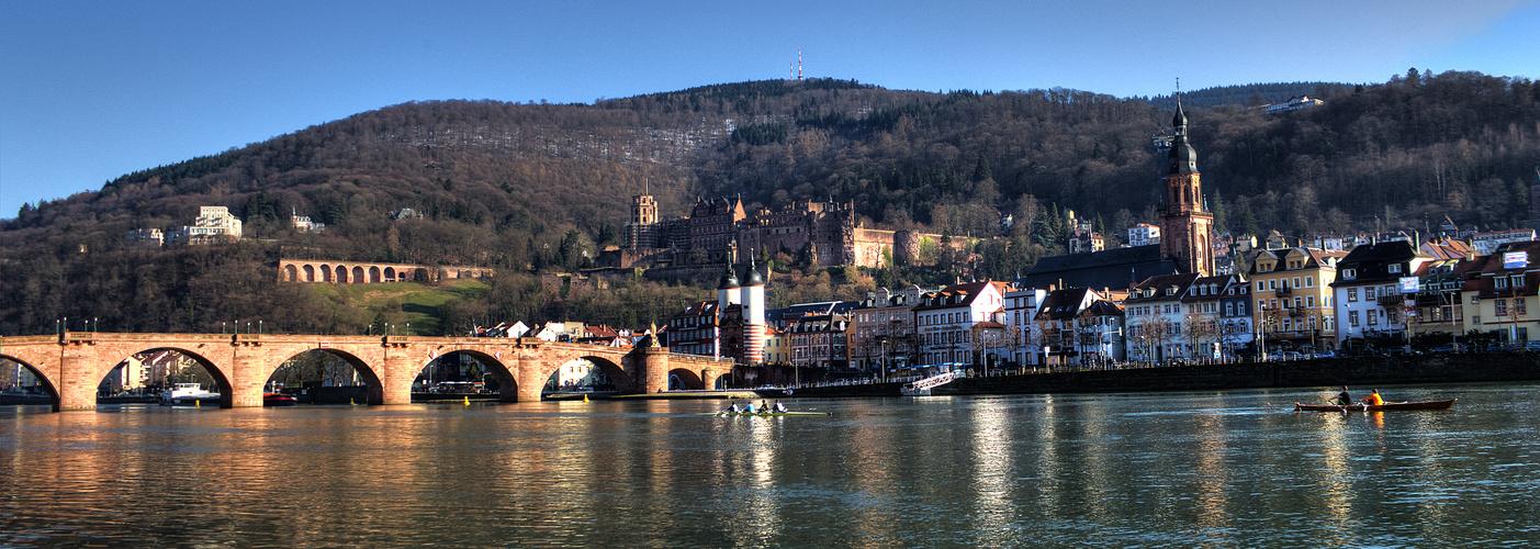 Die ersten Sonnenstrahlen in Heidelberg