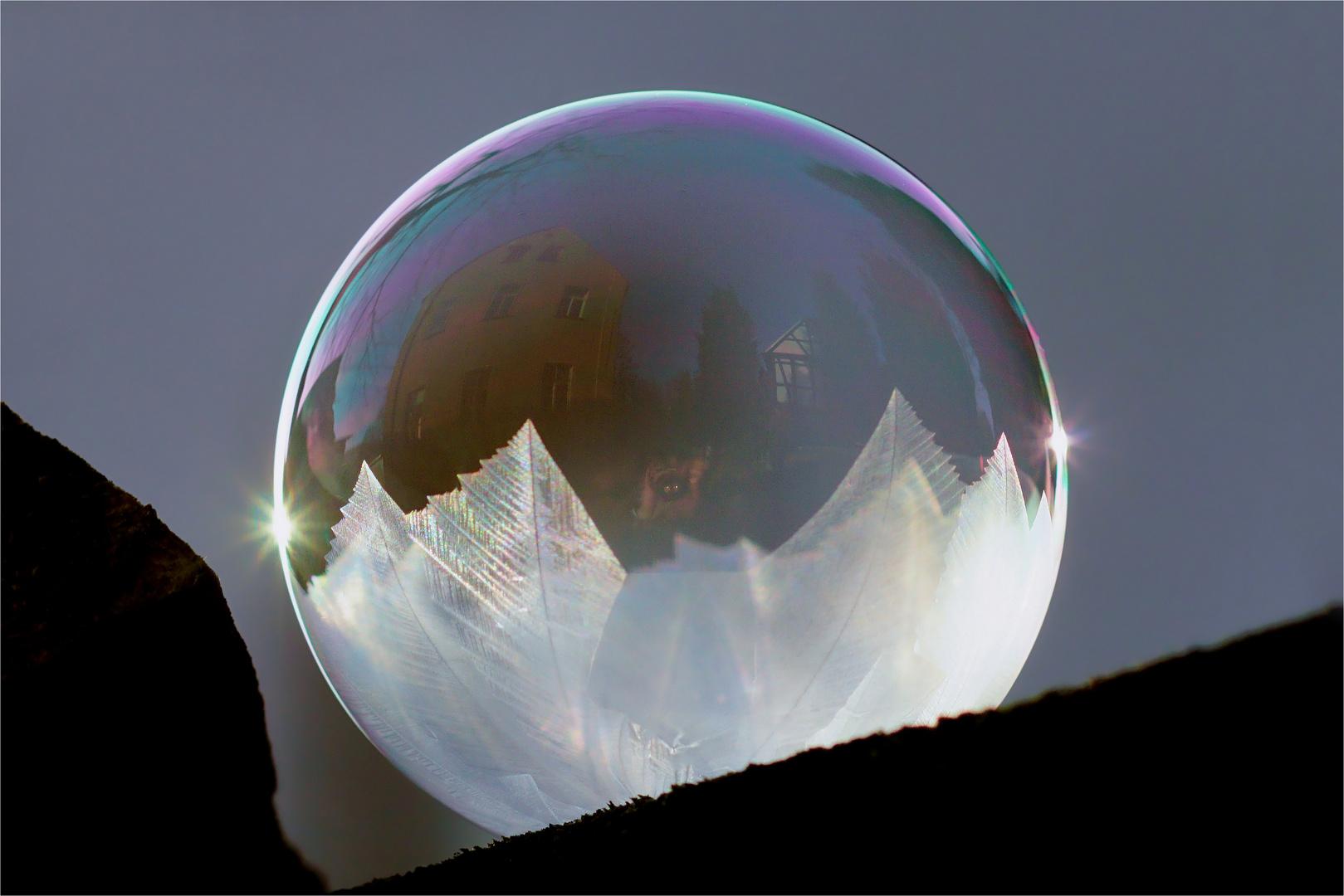 Die Exquisite - halb gefrorene Seifenblase