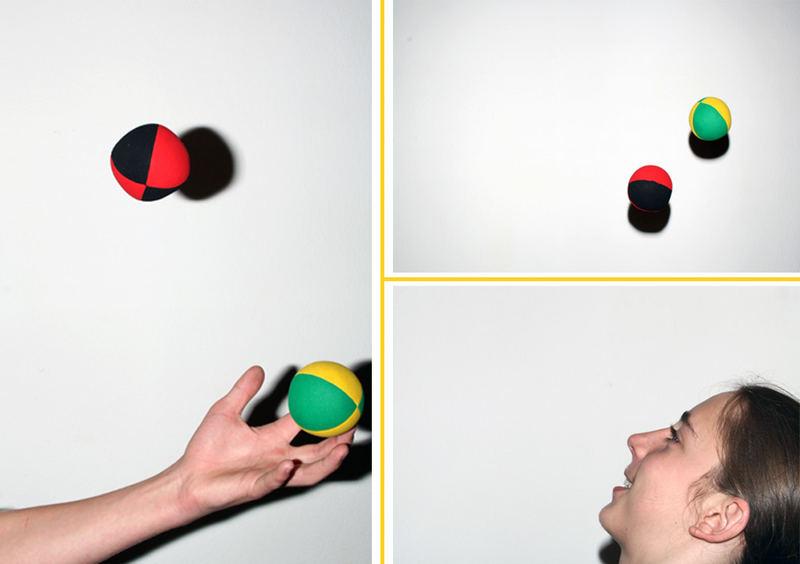 Die Fähigkeit, mehrere Gegenstände wiederholt in die Luft zu werfen und wieder aufzufangen