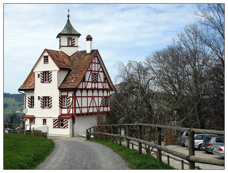 Die Falkenburg über St. Gallen ...