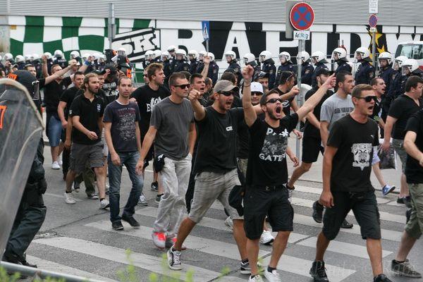 """die """"Fans von PAOK kommen"""