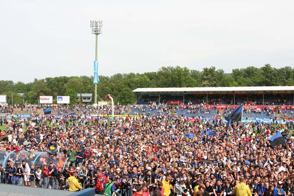 Die Fans von TuS Koblenz - schon wieder am feiern...