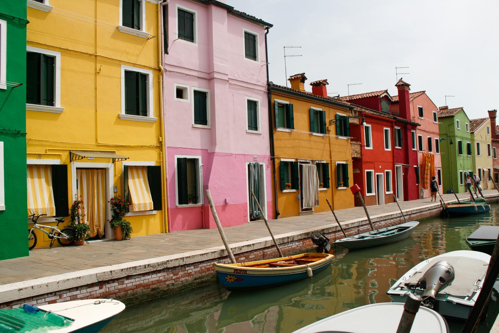 Die farbigen Häuser von Burano