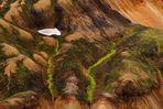 Die Farbspiele in den Rhyolithbergen bei Landmannalaugar, südliches Hochland Island