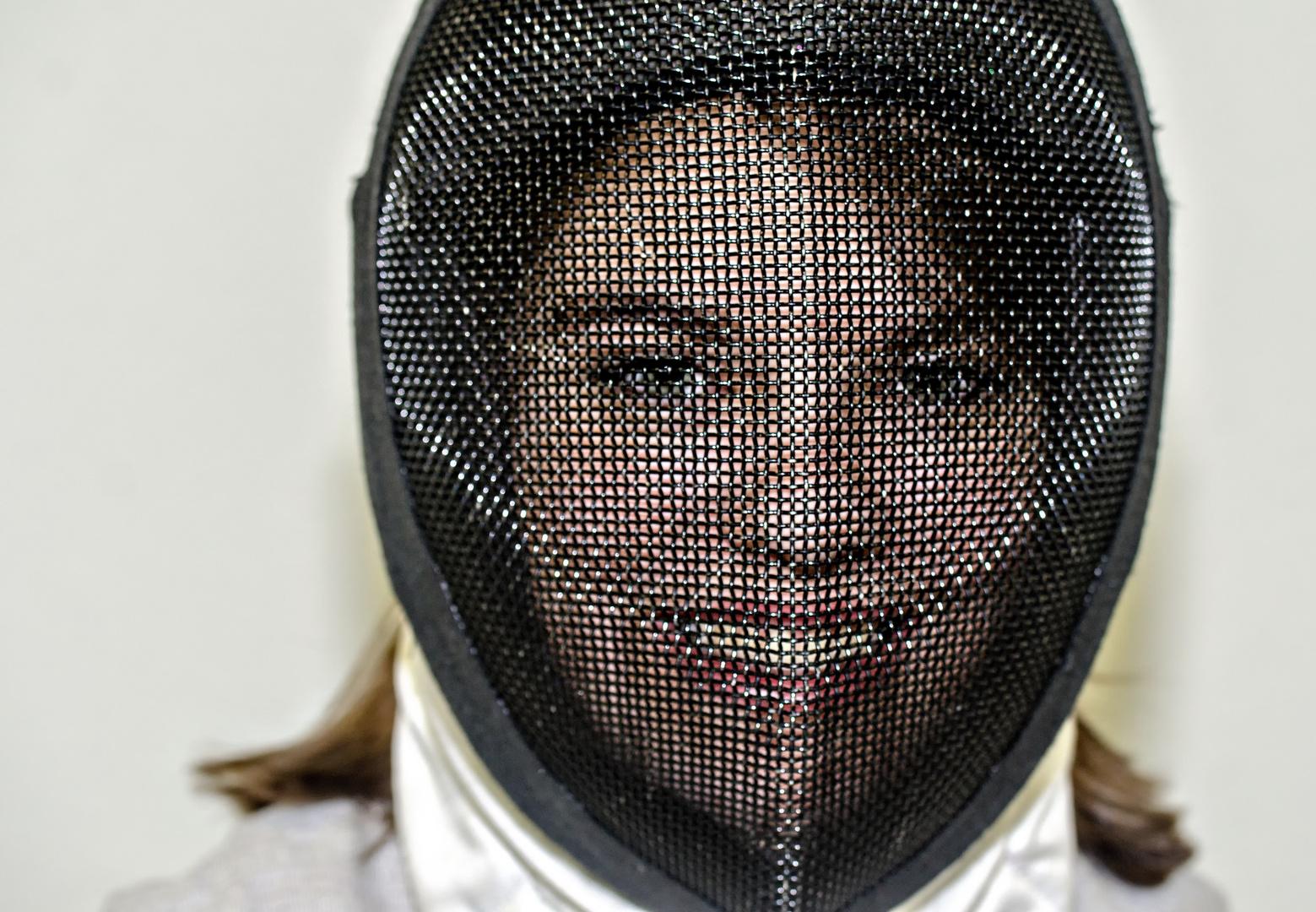 Die Fechterin hinter der Maske