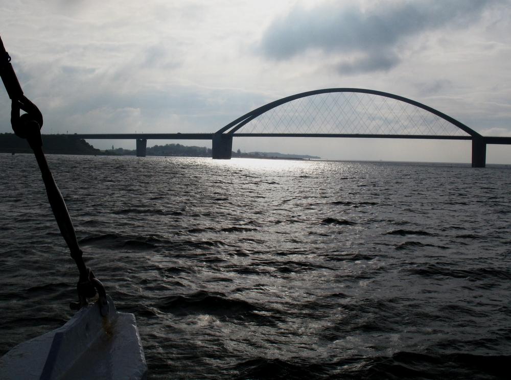 Die Fehmarnsundbrücke.....