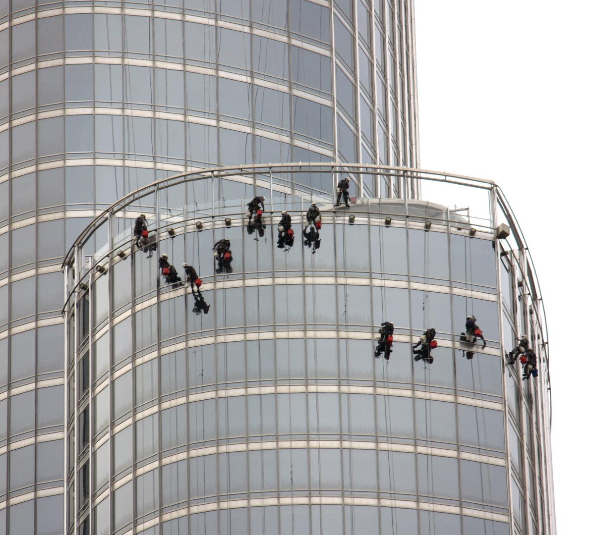 Die Fensterputzer vom Burj Khalifa