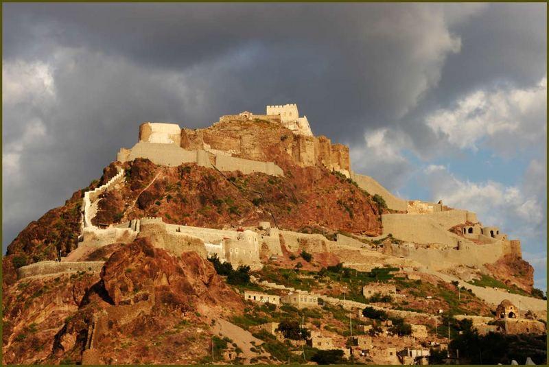 """die Festung """"Kairo"""" in Taiz"""