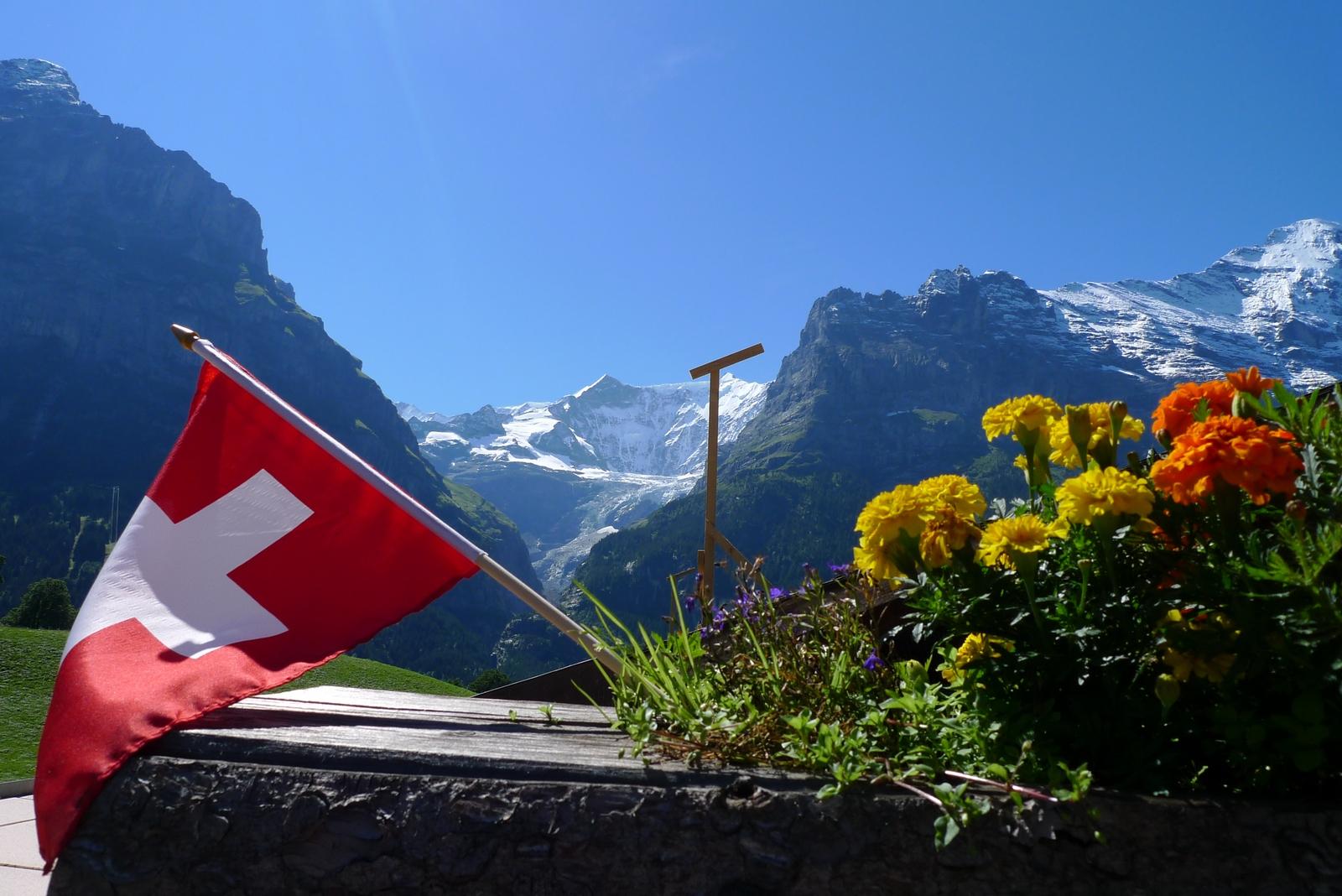 Die Fiescherhörner in Grindelwald