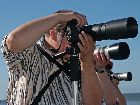 Die Fotografen mit den langen Tüten