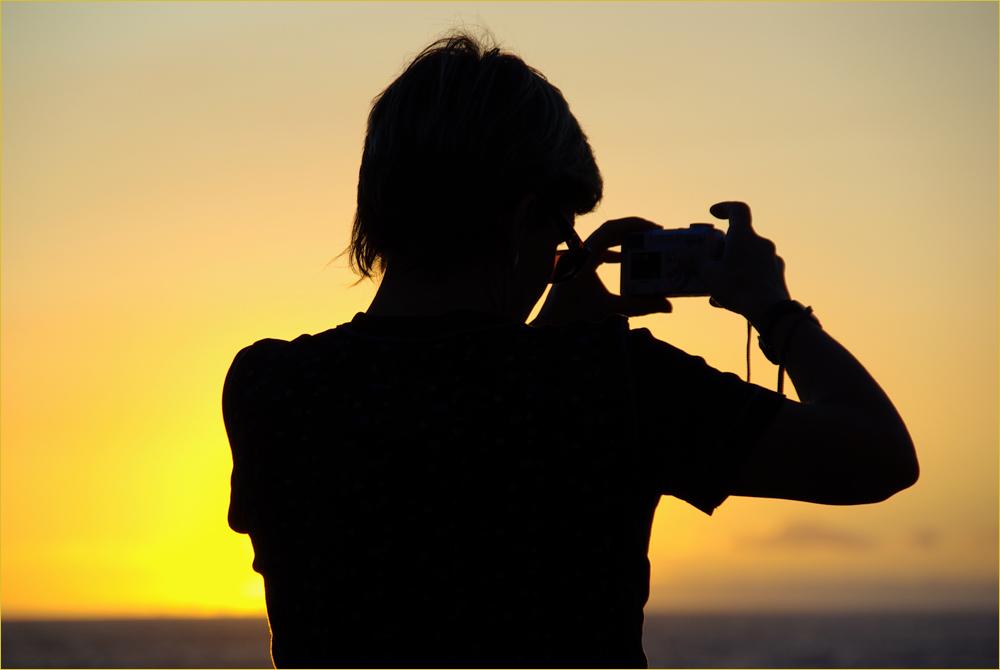 Die Fotografin...