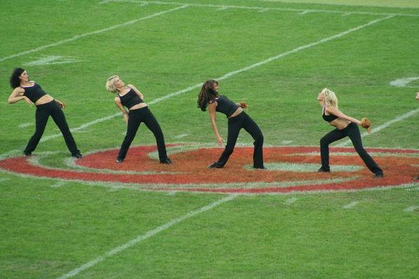 Die Frankfurt Cheerleader in Aktion !