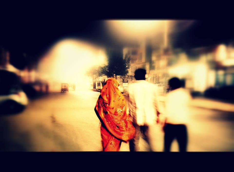 Die Frau im Sari