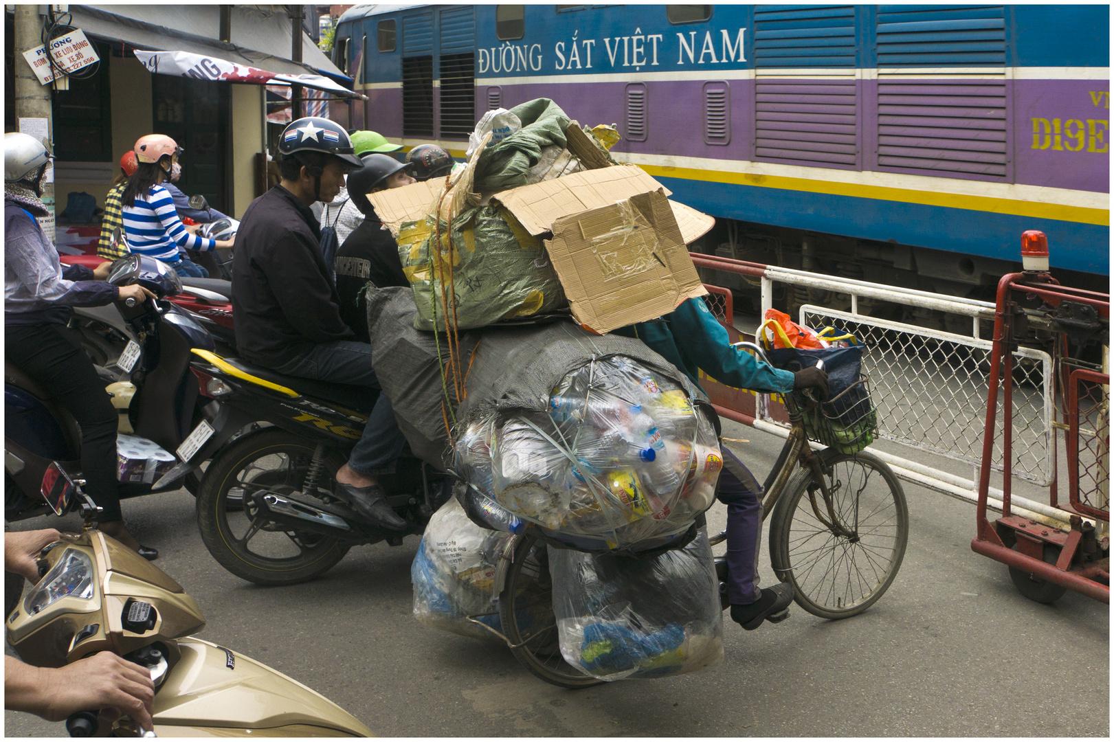 Die Frau von der Mülltrennung