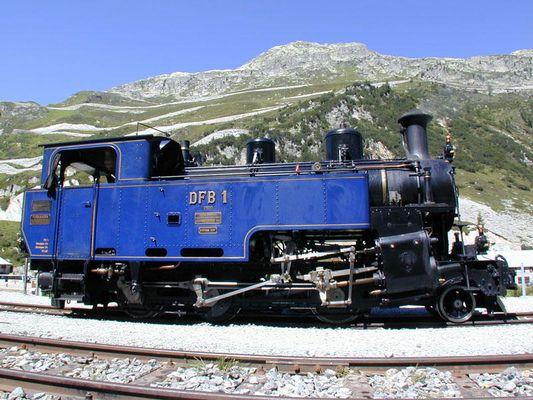 Die Furkaeisenbahn in der Schweiz