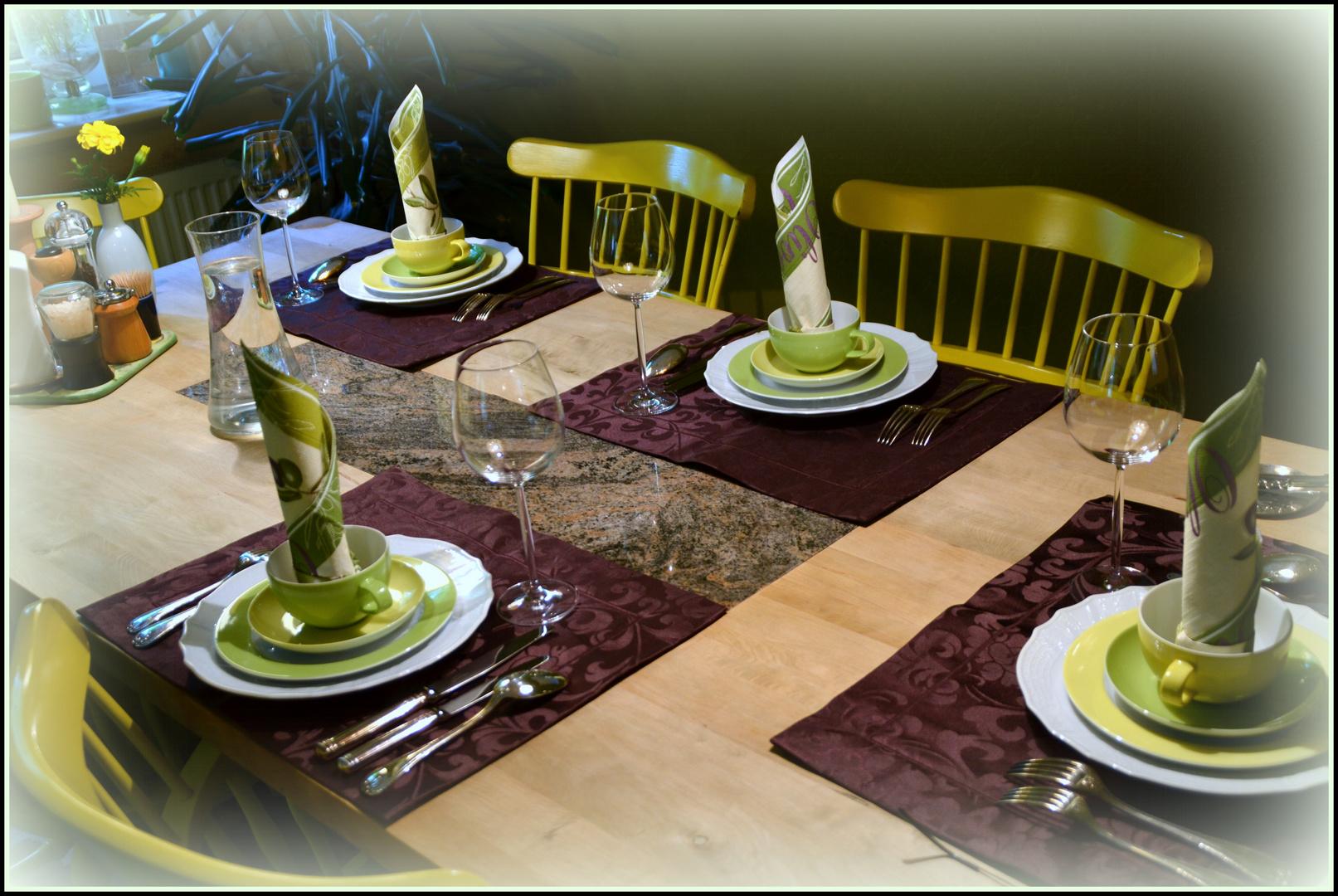 ...die Gäste können kommen