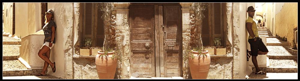 Die Gassen von Santorin