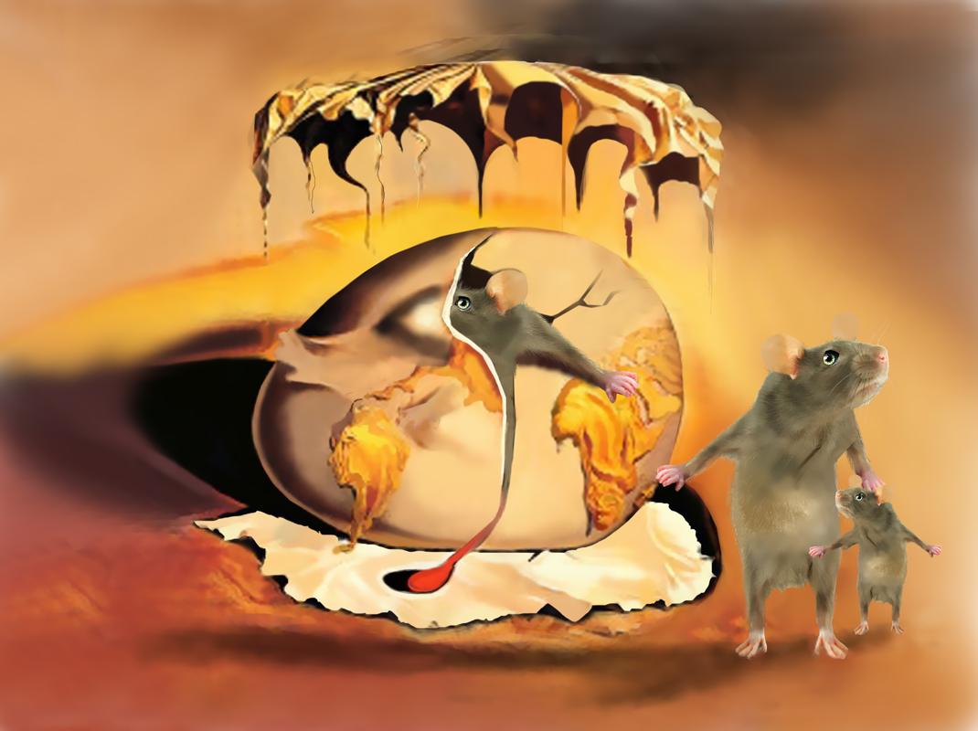 Die Geburt der neuen Maus - Dali