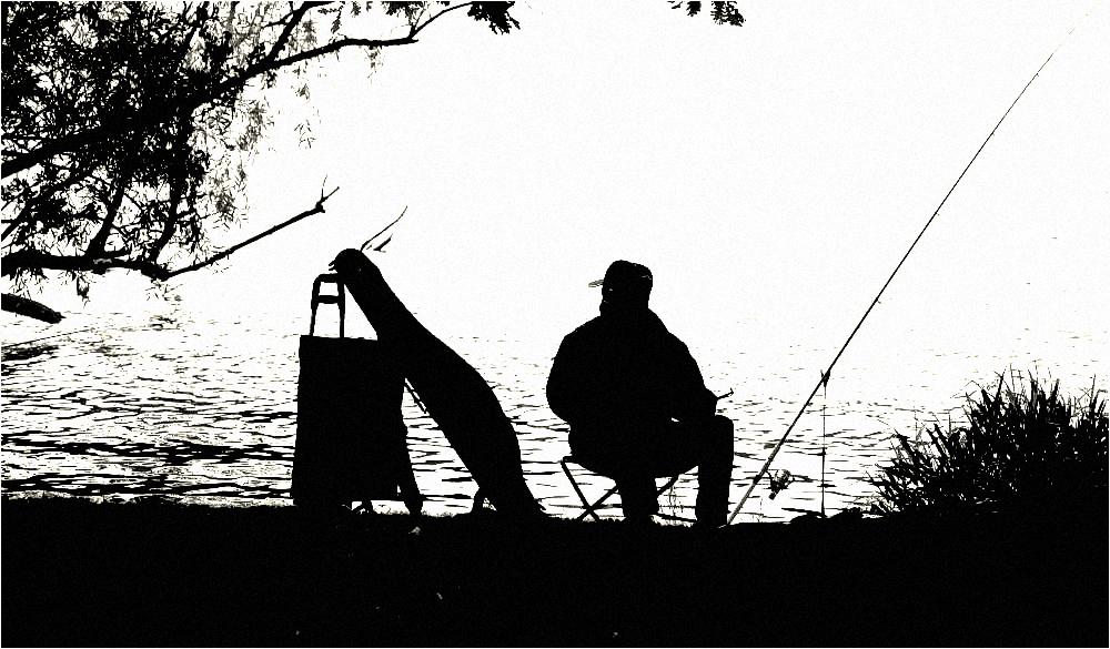 die Gedanken des Anglers