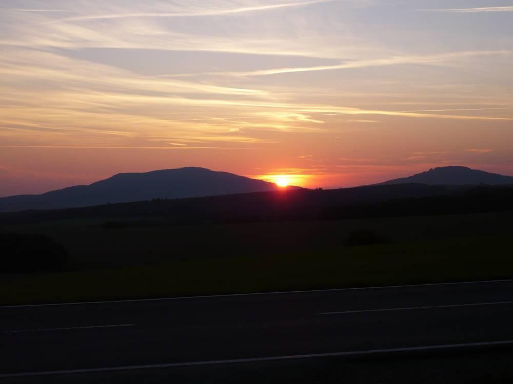 Die gleichberge im Sonnenuntergang