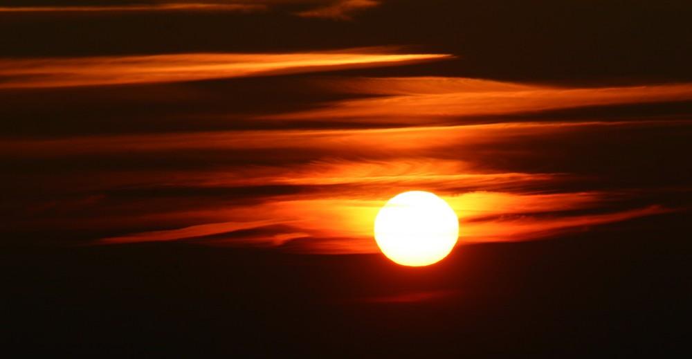 Die Glut der Sonne