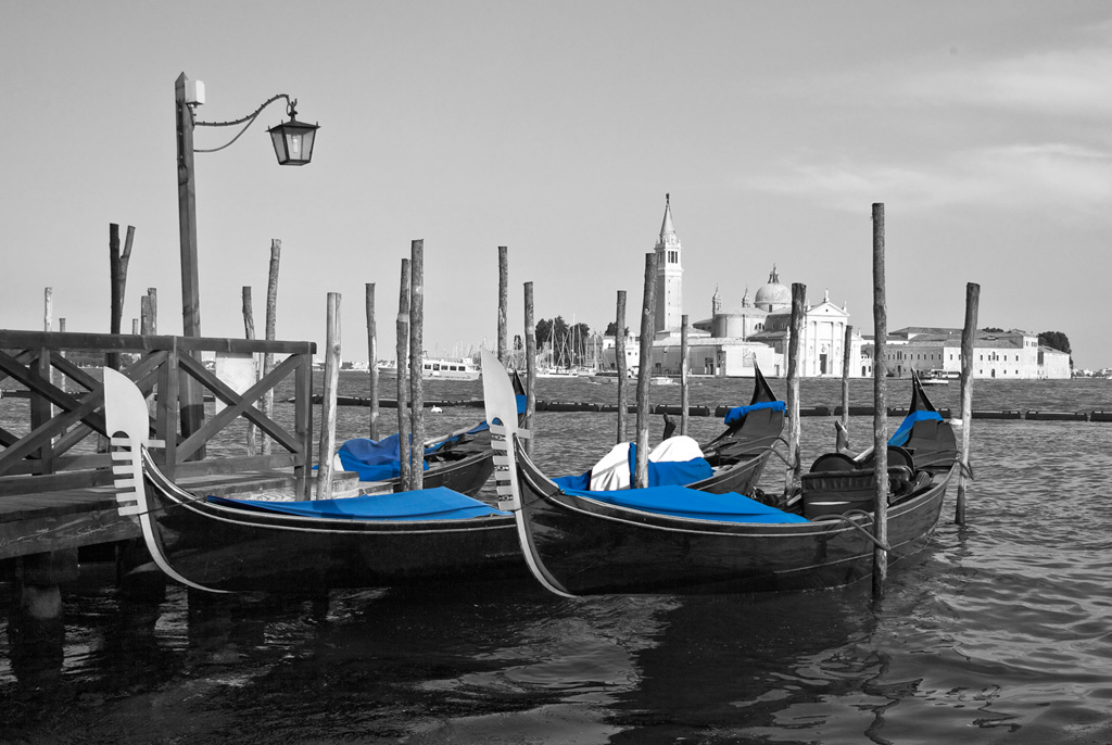 die Gondeln von Venedig