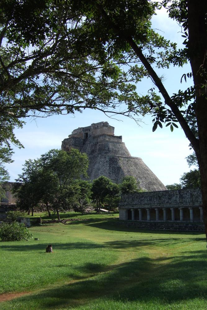 Die grosse Pyramide von Uxmal