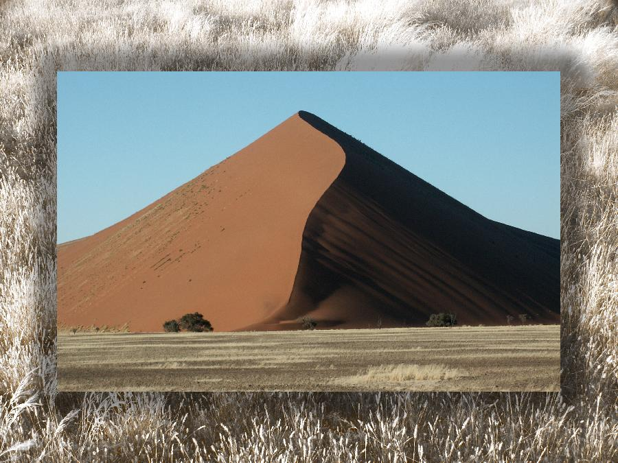 Die großen Sanddünen in Namibia
