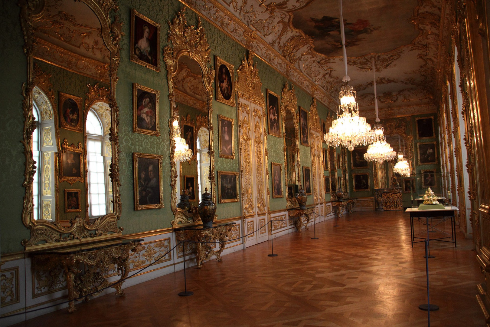Die Grüne Galerie in der Münchner Residenz........