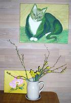 Die grüne Katze